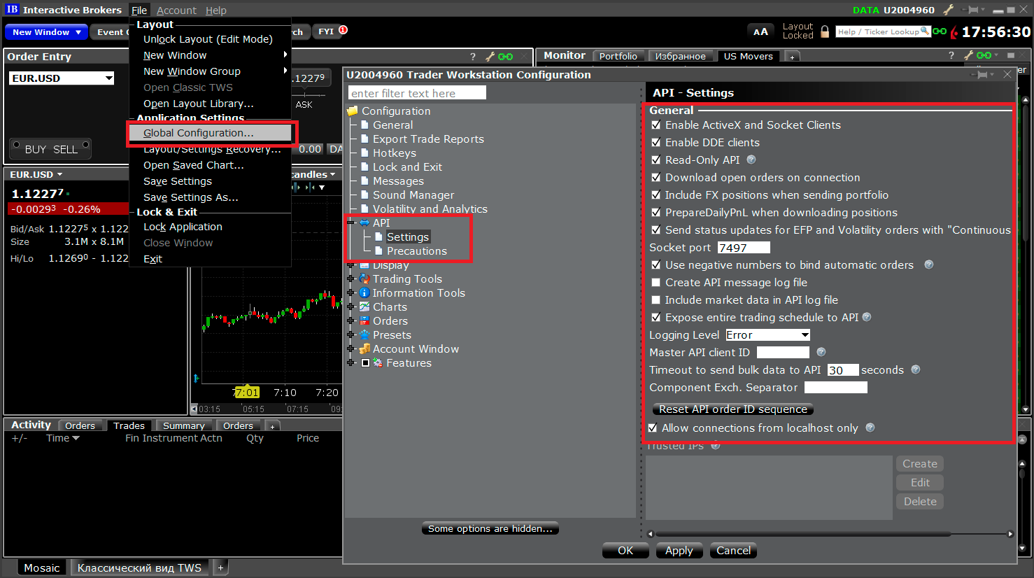 Interactive Brokers Trader Workstation